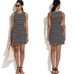MADEWELL Textured Stripes Afternoon Dress Size S